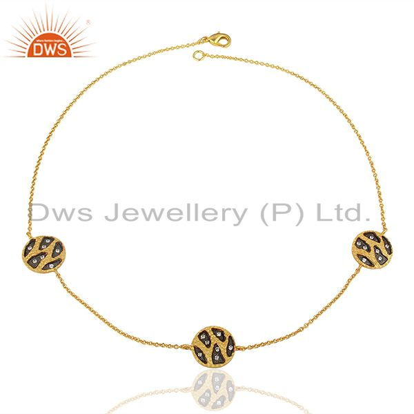 Exporter Indian Traditional Gold Plated Women Wedding Wear Necklace Jewelry