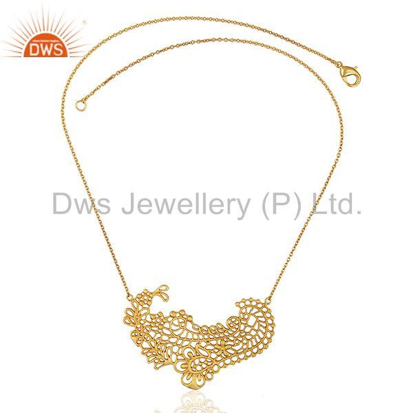 Exporter Paisley shaped lace Designer pendent Wholesale Jewelry