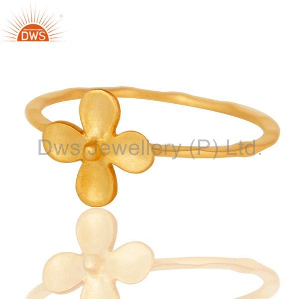 Exporter Lovely 18k Gold Plated Traditional Handmade Brass Stackable Ring