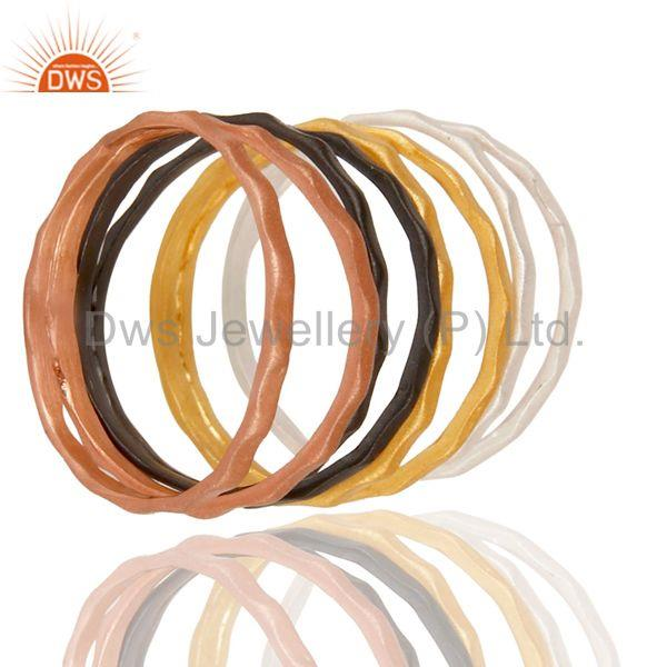 Exporter Handmade Multi Color Brass Fashion Round Band Rings Manufacturers