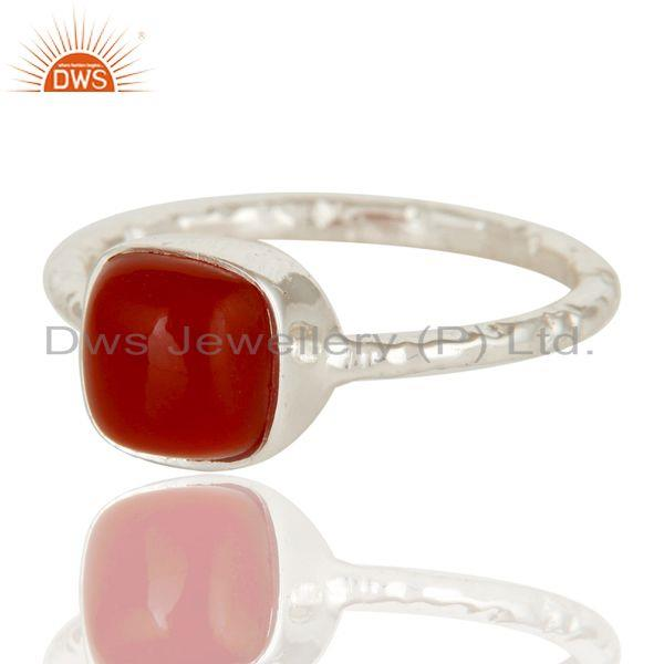Exporter Red Onyx cushion Studded Designer Stackalble Fashion Ring