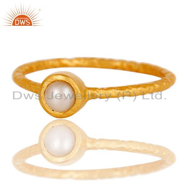 Exporter Pearl Studded Simple Setting Fashion Ring