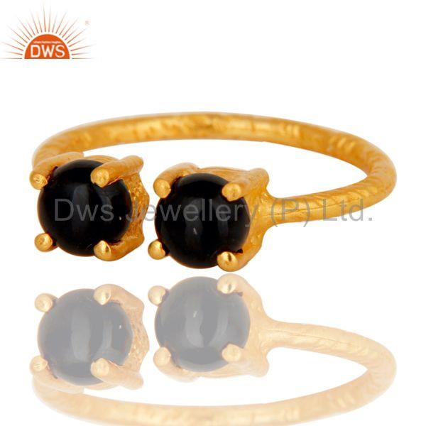 Exporter Black Onyx Studded Adjustable Designer Fashion Ring