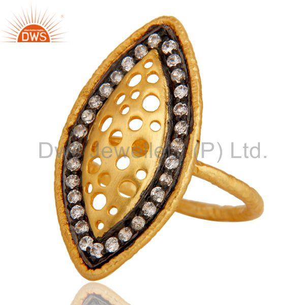 Exporter Cz Studded Art Designer Fashion Ring