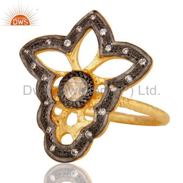 Exporter Butterfly Designer Cz Studded Designer Fashion Ring