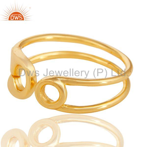 Exporter 18k Gold Plated Solid 925 Sterling Silver Openable Ring Wholesale