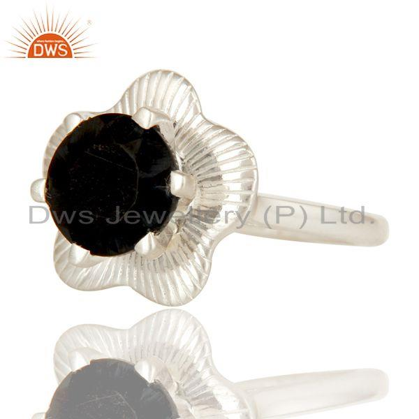 Exporter Designer 925 Sterling Silver Black Onyx Gemstone Prong Setting Cocktail Ring