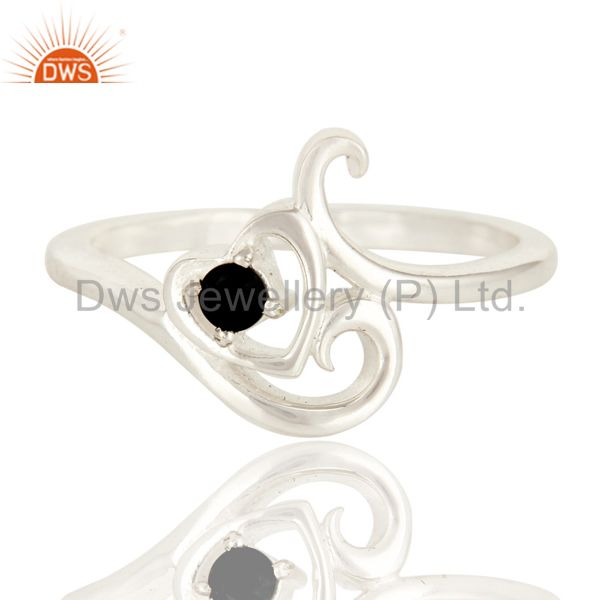 Exporter 925 Sterling Silver Black Onyx Gemstone Stacking Ring