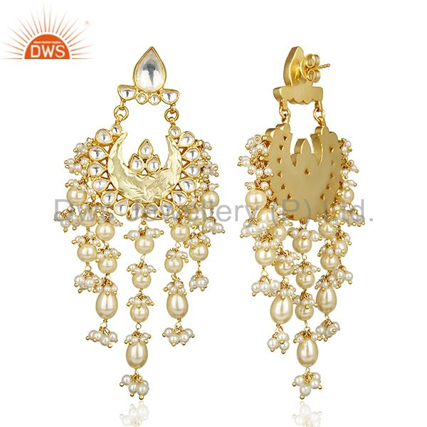 Exporter Gorgeous Indian Kundan Polki Jaipur Wholesale Traditional Silver Jewelry