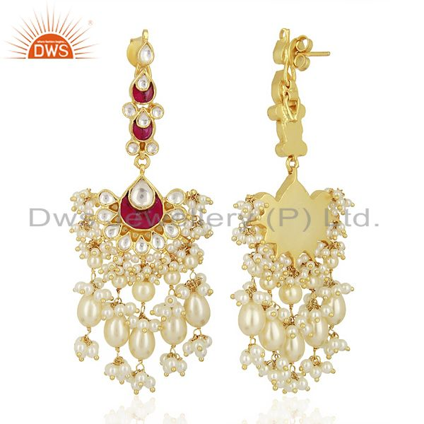 Exporter kundan Bridal 925 Sterling Silver Gold Plated Wedding Jewelry Collection