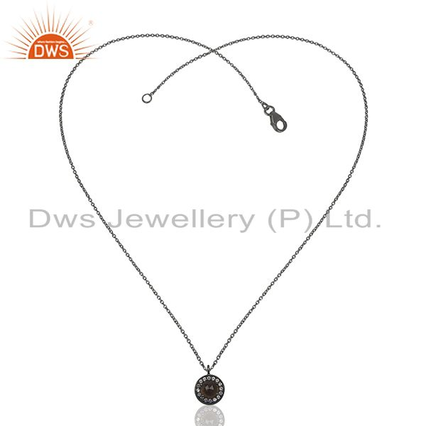 Exporter Black Rhodium Plated 925 Silver Pendant Jewelry Manufacturers