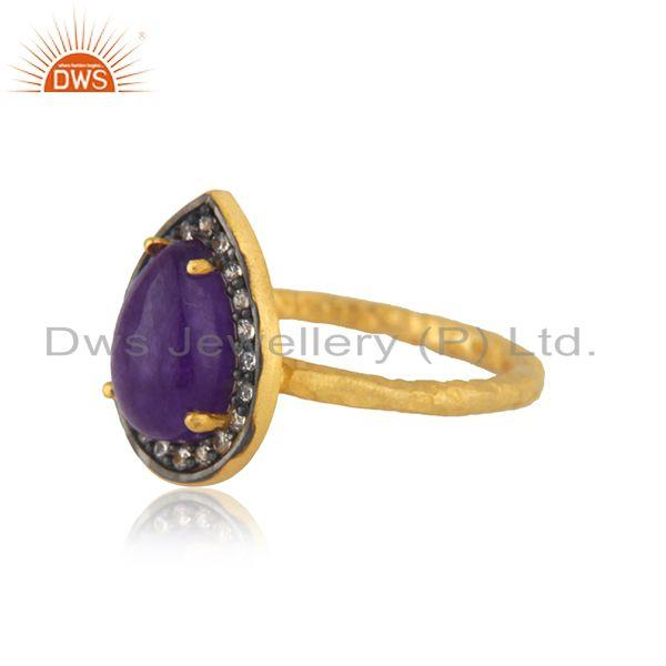 Exporter 14k Gold Plated 925 Silver Multi Gemstone Ring Jewellery Manufacturer India