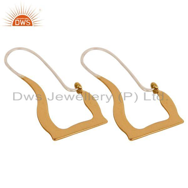 Exporter 18k Solid Yellow Gold And Sterling Silver Handmade Hoop Earrings