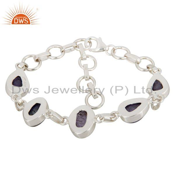 Exporter Natural Tanzanite Gemstone Solid Sterling Silver Handcrafted Bracelet