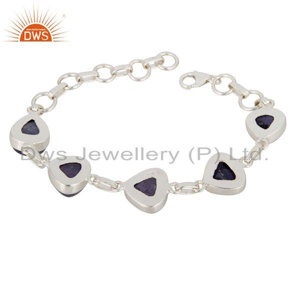 Exporter Fine Hand-Crafted Solid Sterling Silver Bracelet With Tanzanite Gemstone