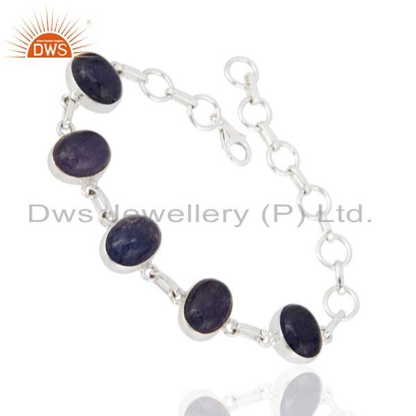 Exporter Handmade Sterling Silver Natural Tanzanite Gemstone Bracelet