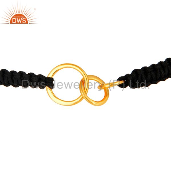 Exporter Gold Plated Solid Sterling Silver Ball Link Chain Macrame Bracelet Gift Jewelry