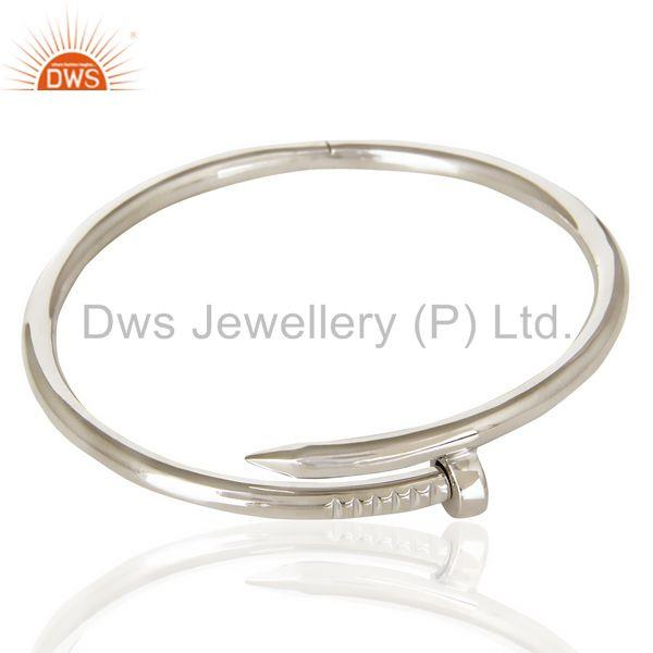 Wholesalers of Screw style cuff solid sterling silver cuff band bangle