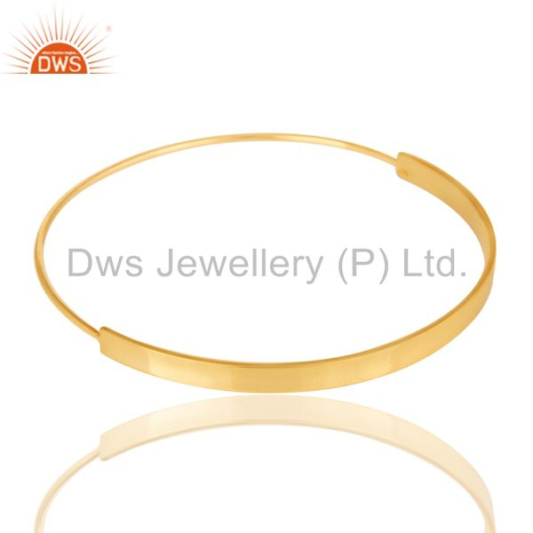 Supplier of 18k gold plated 925 sterling silver handmade simple fashion bangle