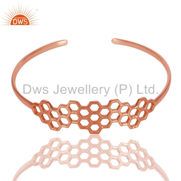 Supplier of 18k rose gold 925 silver handmade fashion openable palm bangle
