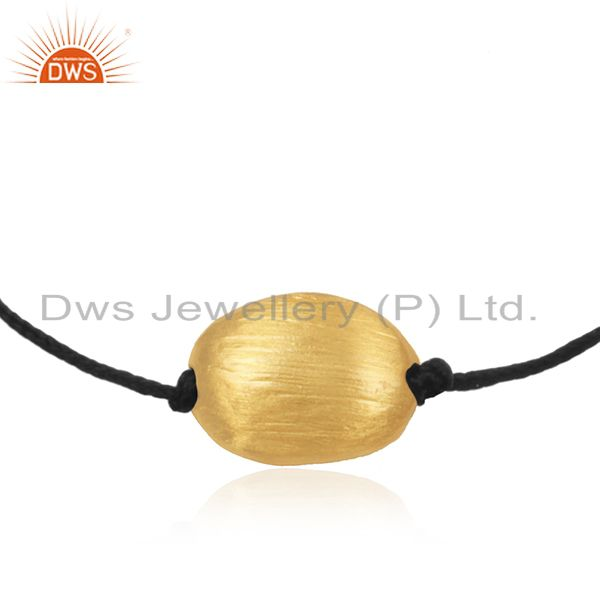 Exporter Gold Plated 925 Sterling Silver Handmade Cord Bracelet Manufacturers INdia
