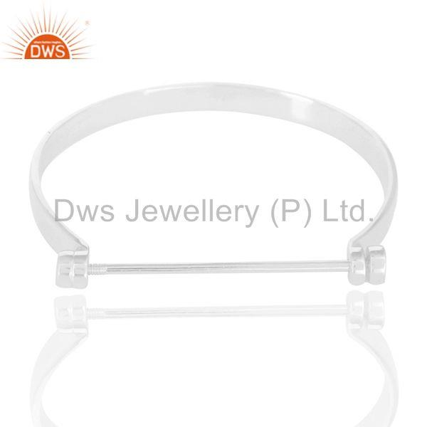 Supplier of Beautiful solid sterling silver handmade screw lock openable bangle
