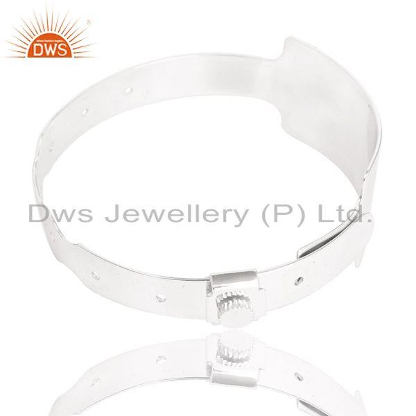 Supplier of Handmade art deco new design wide bangle made in solid 925 silver