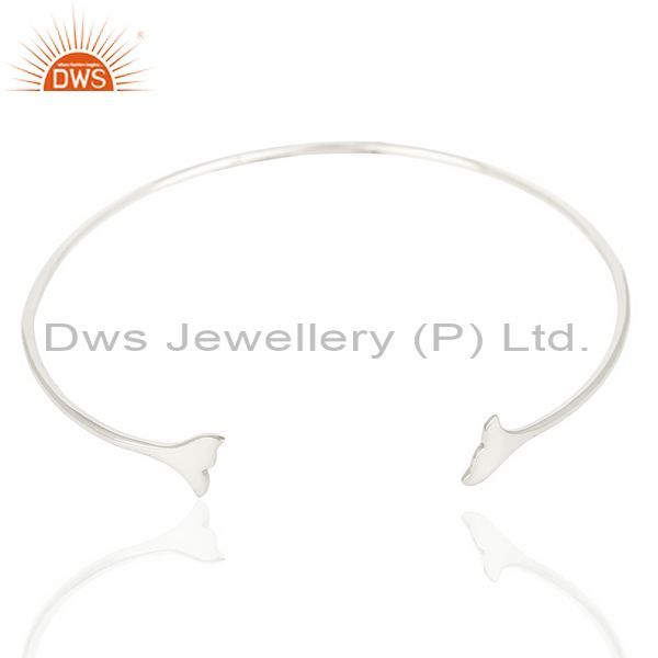 Exporter Dolphin Tail Adjustable Openable 92.5 Sterling Silver Bangle