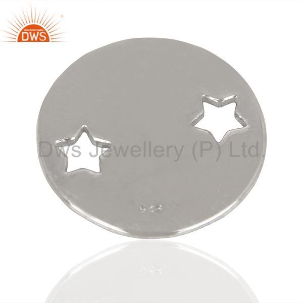 Exporter Silver Round Stamping Tag Star Engraving 925 Sterling Silver Jewellery Finding