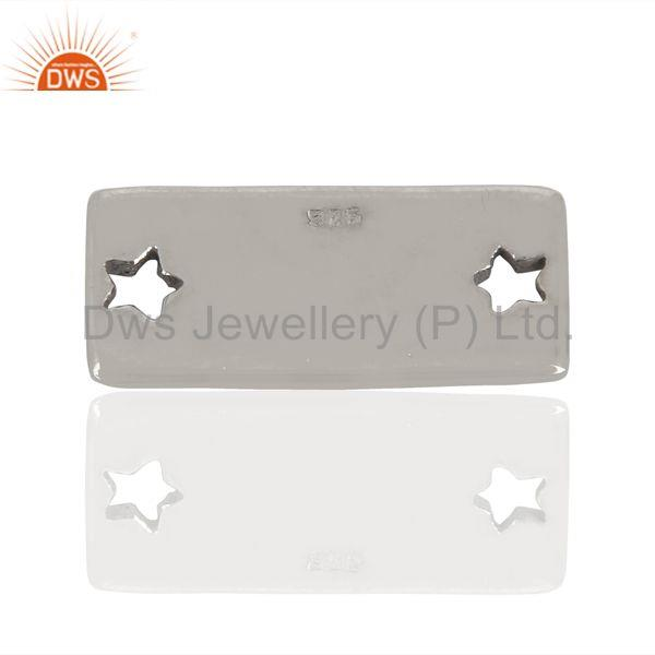 Exporter Stars Engraved Rock Hand Stamped 925 Sterling Silver Jewellery   Finding