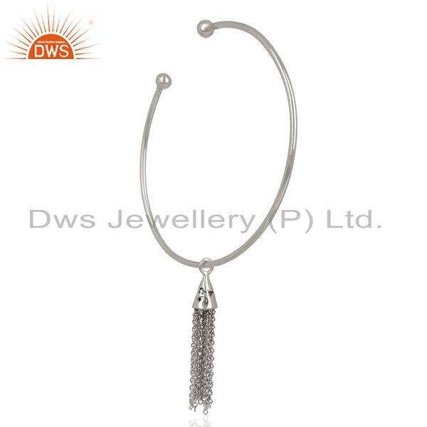 Exporter European Screw Fill Open Beads With Charms 925 Sterling Silver Bangle