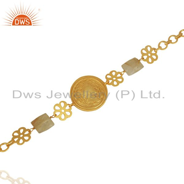 Exporter Handcrafted Gold Plated Plain Silver Bracelet Jewelry Manufacturer