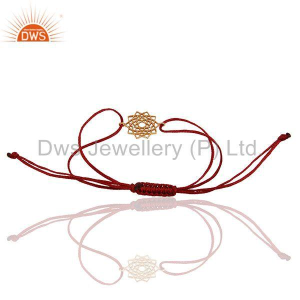 Exporter Sahasrara 925 Sterling Silver Rose Gold Plated On Red Thread Bracelet Jewelry