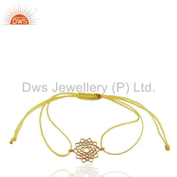 Exporter 92.5 Sterling Silver Charm Yellow Thread Bracelet Manufacturer