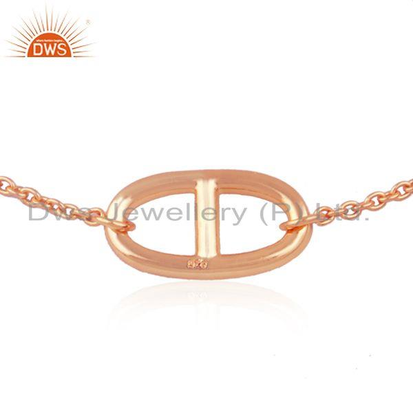 Exporter 14k Rose Gold Plated 925 Silver Chain Link Bracelet Manufacturer from India