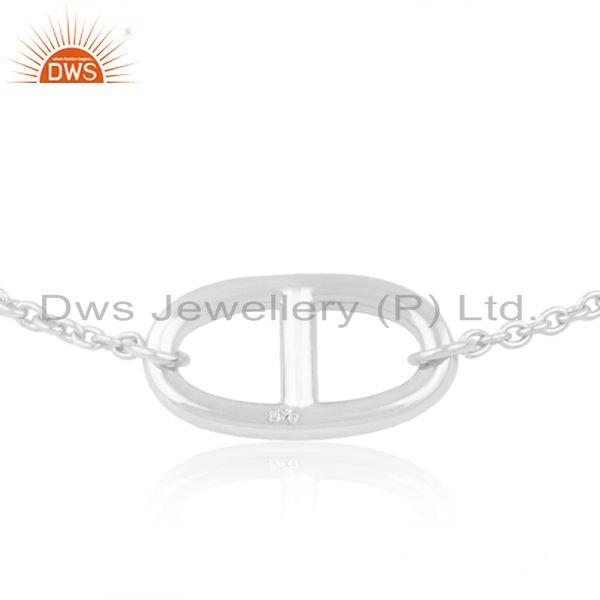 Exporter Designer Chain Link 925 Sterling Silver Bracelet Jewelry Wholesaler from India