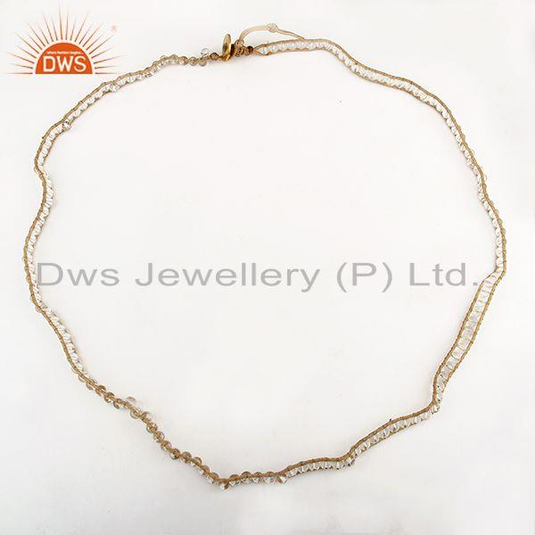 Exporter Round Crystal Quartz Beads Bracelet Wholesale Supplier from India