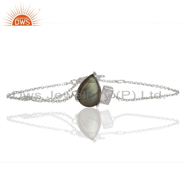 Exporter Rainbow Moonstone and Labradorite Gemstone Bracelet Manufacturers