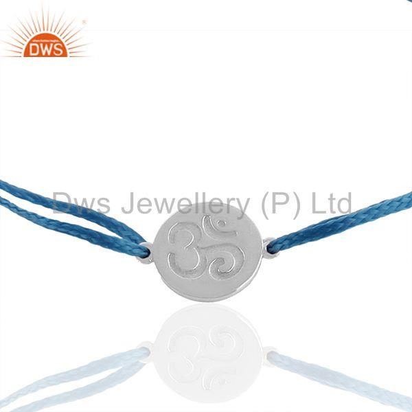 Exporter White 925 Silver Om Ohm Religious Jewelry Charm Bracelet Manufacturers