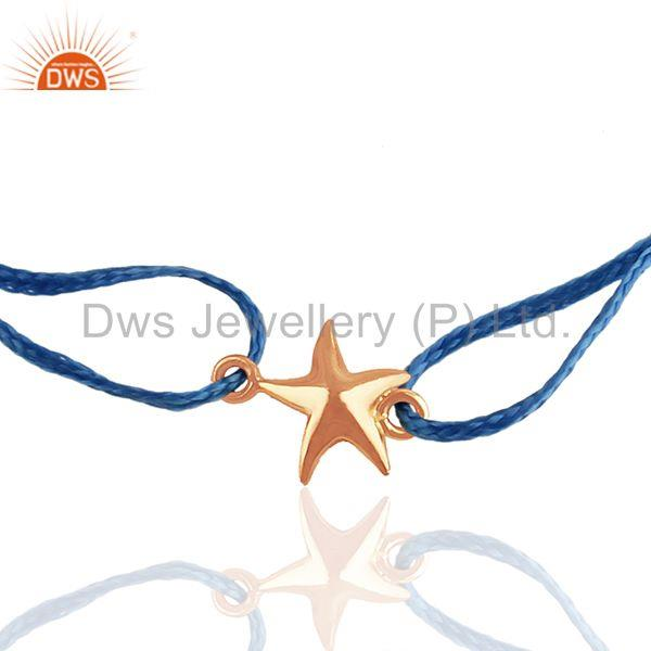 Exporter Rose Gold Plated Sterilng Silver Plain Star Charm Bracelet Suppliers