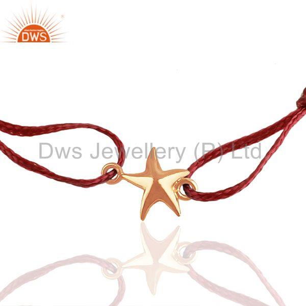 Exporter 925 Silver Lucky Star Charm Rose Gold Plated Bracelet Manufacturers