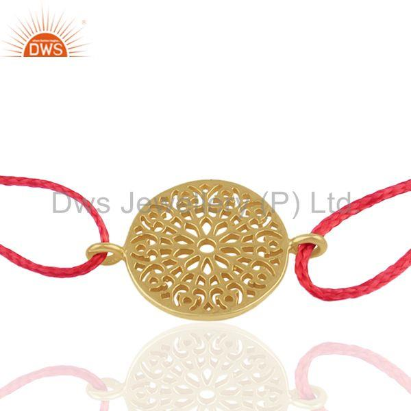 Exporter 18k Gold Plated Plain Silver Charm Bracelet Jewelry Manufacturers