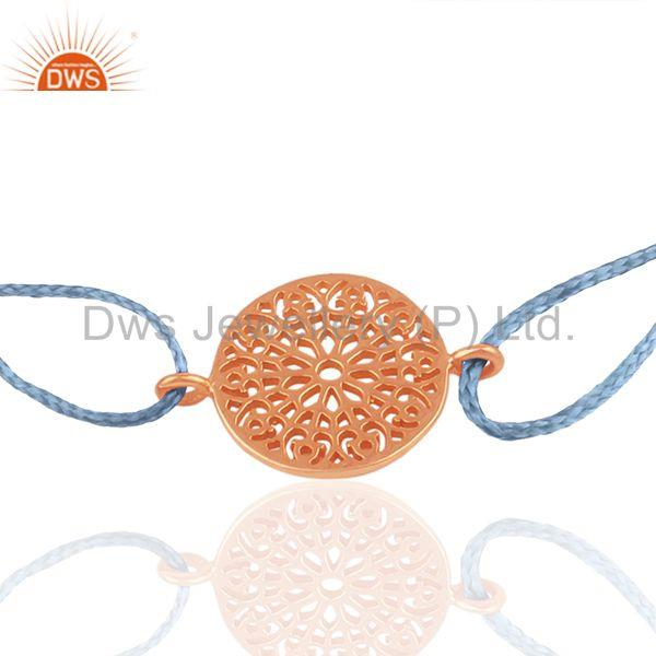 Exporter Rose Gold Plated Plain Silver Charm Bracelet Manufacturer of Charms