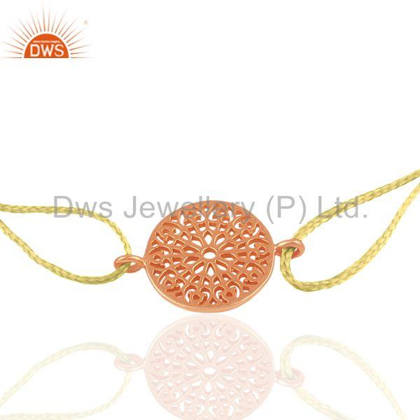 Exporter Rose Gold Plated Plain Silver Charm Bracelet Manufacturer of Jewelry