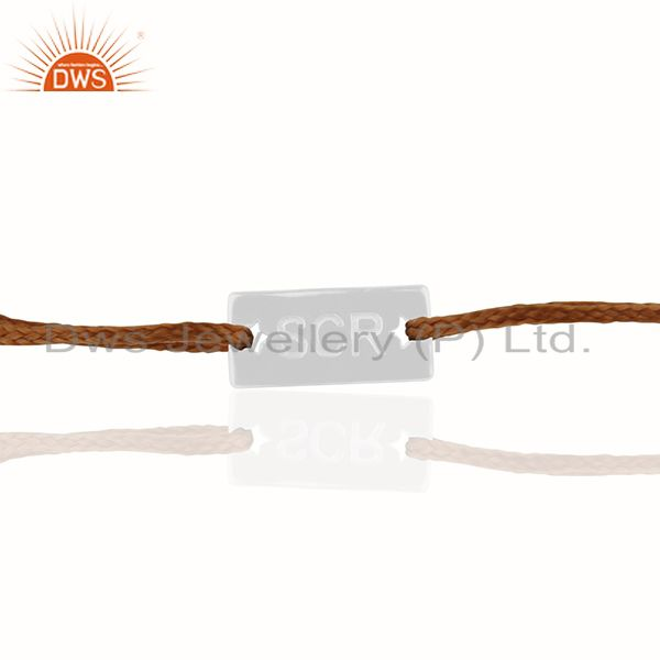 Exporter 925 Sterling Silver Engraved Customized Bracelet Manufacturers India