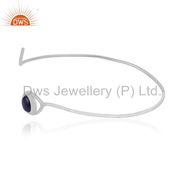Supplier of Handmade 925 silver evil eye design cuff bangle manufacturer