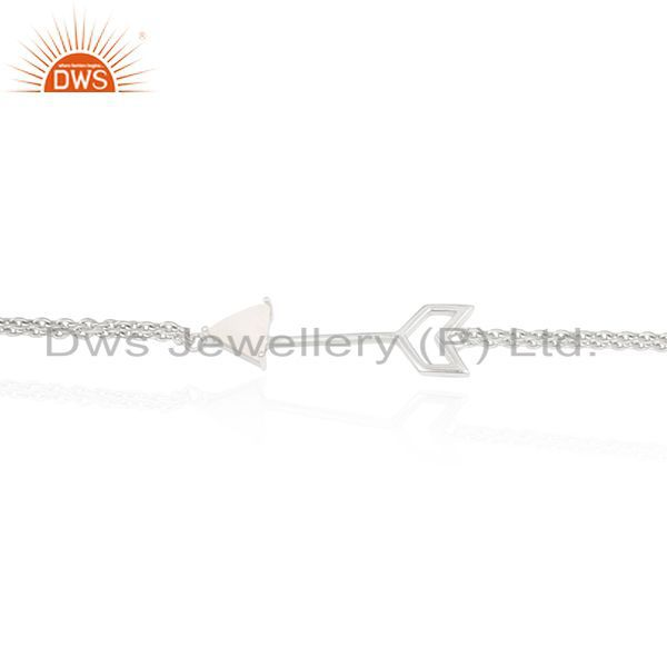 Exporter Custom Arrow Design Bracelet Manufacturer With 925 Silver Moonstone Jewelry