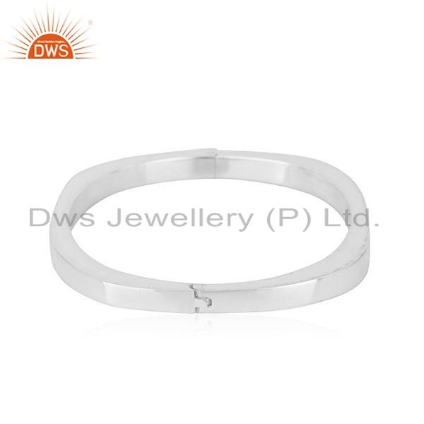 Exporter New Arrival 925 Sterling Fine Silver Openable Bangle Jewelry For women