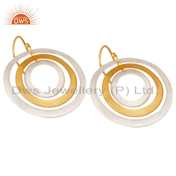 Exporter Silver and Gold Plated Brass Fashion Earrings Jewelry Manufacturer