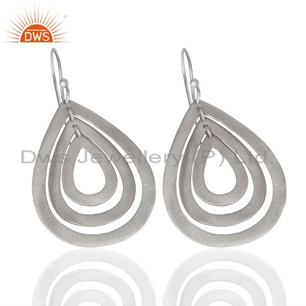 Exporter Handmade Silver Plated Brass Dangle Fashion Earrings Suppliers